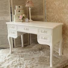 Antique white ornate dressing table desk shabby french chic