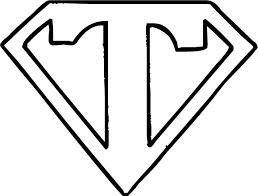 Superman Logo Letter T