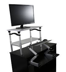 Dual Monitor Stand Up Desk by 6 Best Ergonomic Standing Desks For Your Home Or Office
