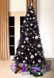 8 Ft Black Artificial Christmas Tree by Black Bergen Fir Luxury Artificial Christmas Tree 7 Ft Tall