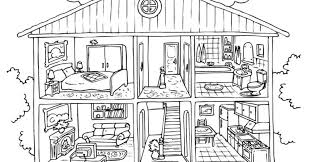 Printable House Coloring Pages Kids