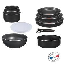 batterie de cuisine tefal pas cher tefal ingenio set 10 pièces noir achat vente batterie de cuisine