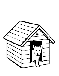 Coloring Pages Dog In House Page