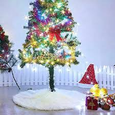 36 Tree Skirt Red White With Greetings