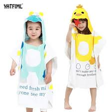 YATFIML Baby Bath Towel Child Cotton Animals Swim Robes Boys And Girls Hooded Cute Bathrobe Beach