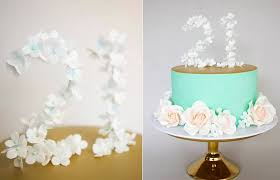 21st Birthday Cake Toppers Mongram Rustic Floral