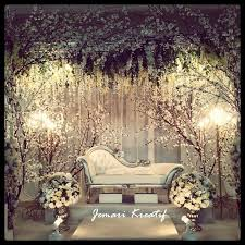 Stunning Wedding Reception Stage Photo Set Up
