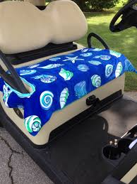 Terry Cloth Lounge Chair Covers With Pillow by Shell Shock Golf Cart Seat Cover 2 Layers Quality Terry Cloth Make