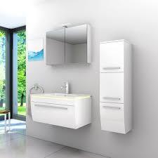 badmöbel set gently 3 v2 r weiß badezimmermöbel badspiegel waschtisch 80 cm nein ohne led beleuchtung