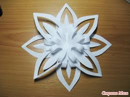 Christmas Craft Ideas Paper Snowflake Flower Tutorial