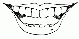 Lips Smile Mouth Coloring Page