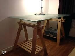 bureau metal verre bureau en l ikea meetharry co