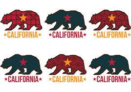 Patterned California Bear Vectors
