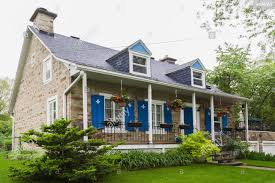 100 Fieldstone Houses Old 1839 Canadiana Fieldstone House Facade In Spring Quebec