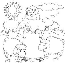 Jesus Is The Good Shepherd Coloring Page Archives With Regard To