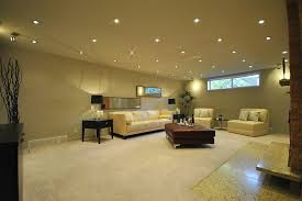 the living room with indirect recessed led light best pertaining