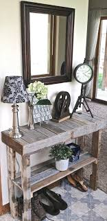 Pallet Rustic Console Table Entryway Home Decor