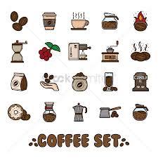 1996676 Coffee Grinder Set Of Icons