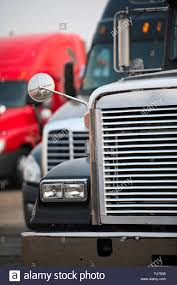 100 Semi Truck Brands Big Rigs Semi Trucks Of Different Brands Models And Colors Are Lined