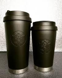 All Black Starbucks Tumblers
