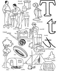 Preschool Letter T Coloring Sheets Pages For Adults Printable