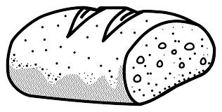 bread clipart black and white 1