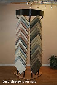new steel rotating ceramic floor tile display with wood grain base