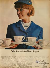 1967 United Airlines Ad Stewardess Sheri Woodruff Photo