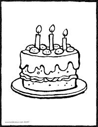 eine torte mit 3 kerzen kiddicolour