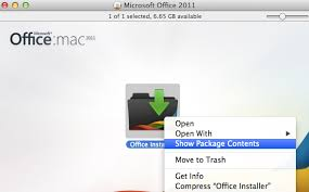 Can I customize the install package for Microsoft fice Mac 2011