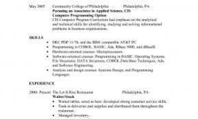 Sample Resume Of Restaurant Waiter Fresh Restaurant Waiter Resume