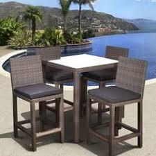 wicker bar height patio set hton bay tacana 5 patio high bar dining set s0406014