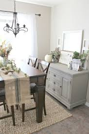 Decorating Dining Room Buffets And Sideboards Elegant Fall Decor Buffet Table Painted In Annie Sloan French Linen Chalk