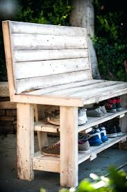Shoe Storage Bench With Doors Shoe Rack Made With Pallets Pallet