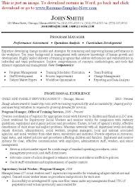 Social Workers Resume Examples