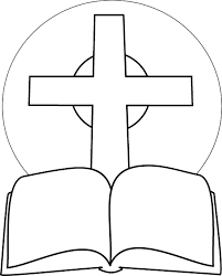 Christian Coloring Pages Bible And Cross