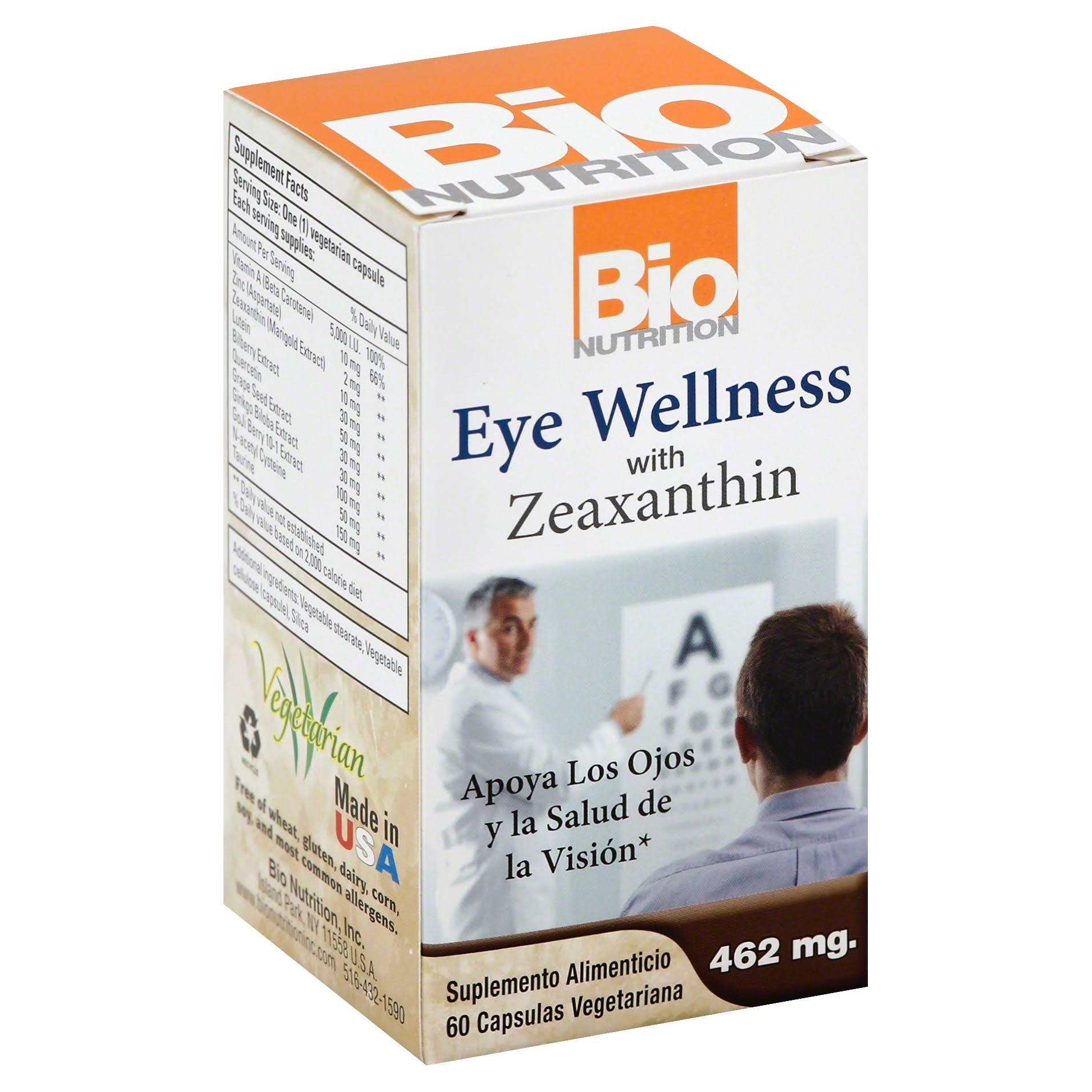 Bio Nutrition Inc Eye Wellness Dietary Supplement - 60 Capsules