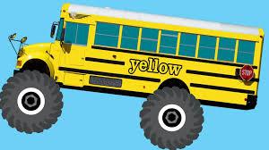 100 Monster Truck Videos Kids School Buses Teaching Colors Crushing Words