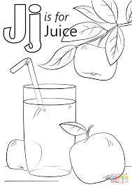 Click The Letter J Is For Juice Coloring Pages