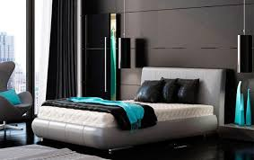 Unique Turquoise With Brown Bedroom Idea Black And Colors Trends 2017