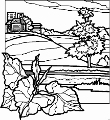 Awesome Landscape Coloring Pages 90 On Print With