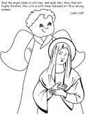 Nativity Coloring Pages With Quotes From The King James Bible