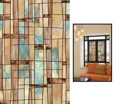 Artscape Savannah Decorative Window Film stained glass panels non adhesive frosted privacy flowers