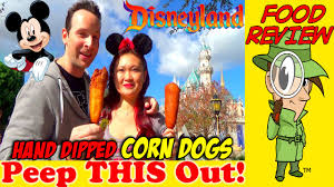 Sonic Halloween Corn Dogs 2015 by Disneyland Hand Dipped Corn Dogs Review Peep This Out Youtube