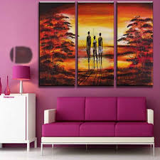 Hand Painted Pictures Abstract India Landscape Oil Painting Wall