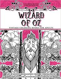 Amazon Coloring Books For Grownups Wizard Of Oz Vintage Adults