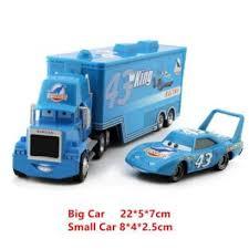 Lihat Harga 2Pcs/Lot Cars Lightning McQueen The King Mark Truck ...