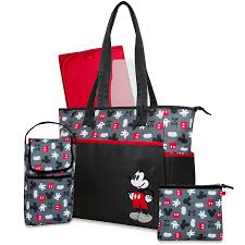 Mickey Mouse Bathroom Set Amazon by Amazon Com Disney 5 In 1 Tote Diaper Bag Mickey Baby