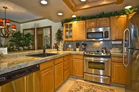 Glamorous Decorating Ideas For Kitchens With Oak Cabinets Set Dining Room New In Kitchen Light 8