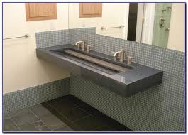 Small Trough Bathroom Sink With Two Faucets by Undermount Trough Bathroom Sink With Two Faucets Faucets Home
